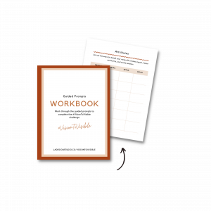 image of guided prompts workbook for the brand visibility challenge for new and small nonprofits